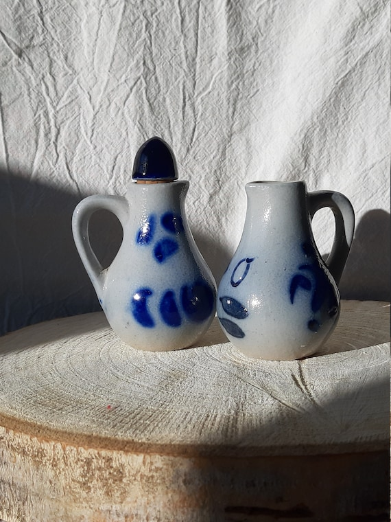 Made in England Stoneware Rustic Salt Sack Pottery