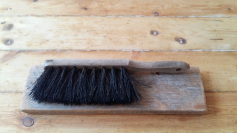 Vintage hand broom antique dust broom duster with wooden handle and natural  bristles rustic farm farmhouse style decor primitive photo prop