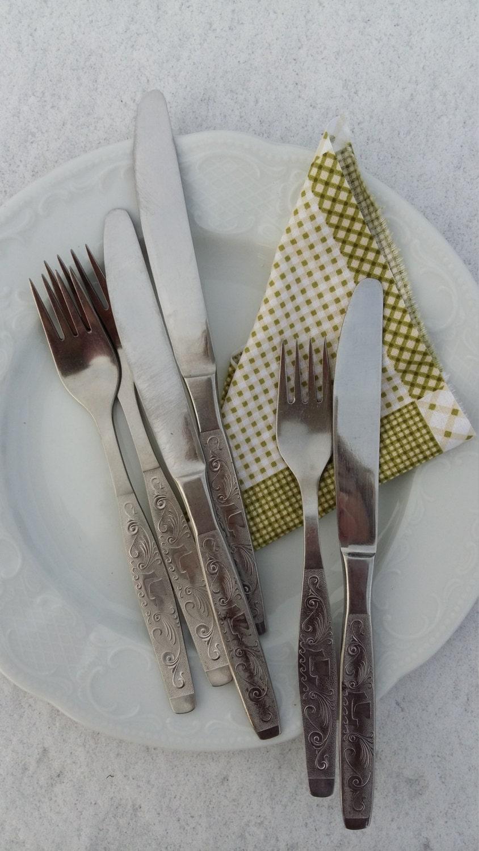Cutlery Set Old Vintage Knife Fork Set Stainless Steel