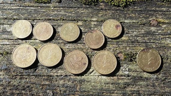 10 Deutsche Münzen 5 Und 10 Pfennig 1950 1994 Alte Geld Europa Etsy