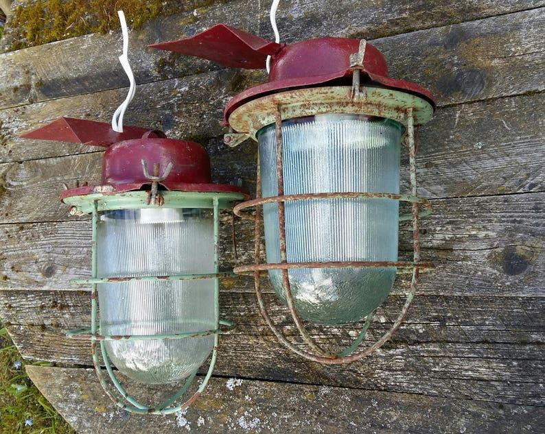 Lampade A Sospensione Allaperto : Filo gabbia lampada industriale illuminazione a sospensione etsy
