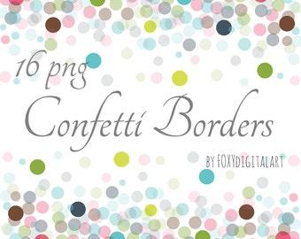 confetti clipart confetti borders confetti border set digital confetti confetti overlay confetti graphics confetti background png