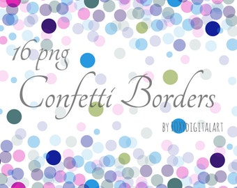 confetti borders confetti clipart confetti overlay digital scrapbooking confetti graphics digital confetti party confetti invitations