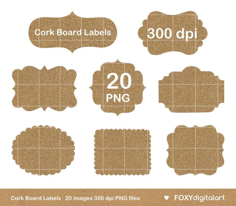 Digitale Pinnwand Rahmen Clipart Kork Bord Textur Etiketten