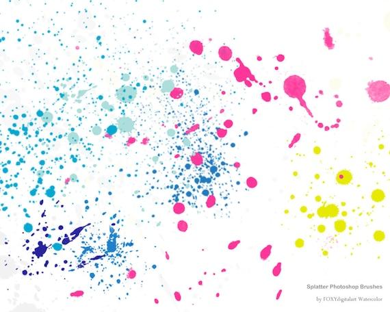 37+ Paintbrush Splatters Digital Papers Crafter Files