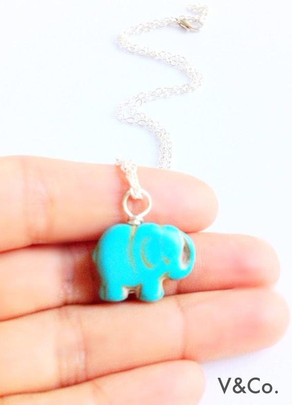 Good Luck Charm Elephant Pendant Necklace Mandala Elephant Necklace