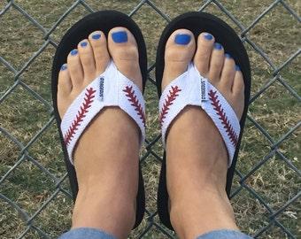 abd86a739f3e8d FREE SHIPPING-Baseball Flip Flops