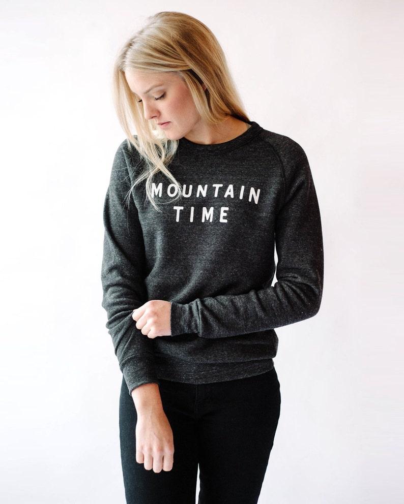 BlackAprès Heather Fleece Sweatshirt SkiEtsy Mountain Time n0kNXZOP8w