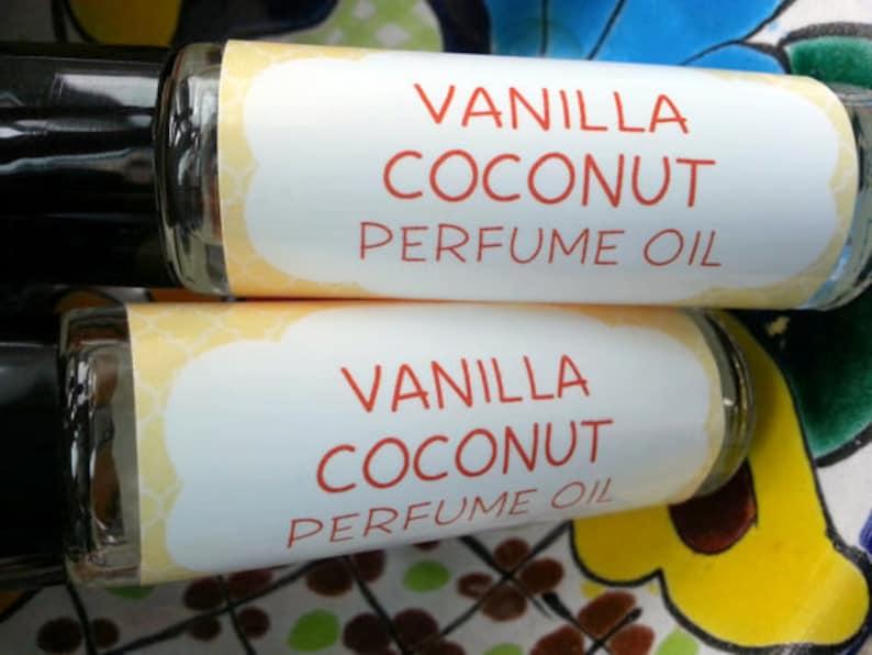 Vanilla Coconut Perfume Oil  Roll On Oil  Vegan Perfume  image 0