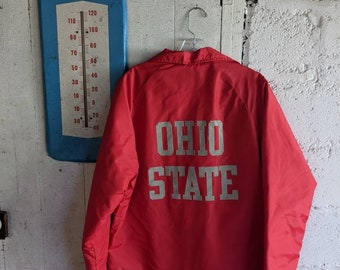 Army Reserve Vintage Adult Medium red jacket for the U.S Iowa 372D Engineers of Des Moines