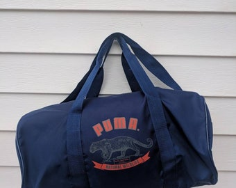 Vintage 90s Puma Gym Duffle Bag with Shoulder Strap c12a04eff0f4d