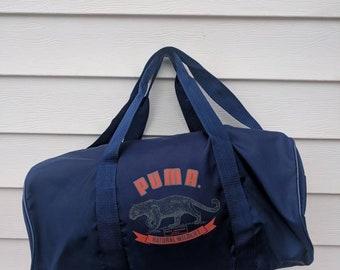 Vintage 90s Puma Gym Duffle Bag with Shoulder Strap 3f9721ed657b1