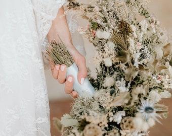 Bouquet De Fleurs Sechees Bouquet De Chardon Bouquet De Etsy