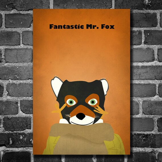 Fantastische Mr Fox Giclee Film Plakat Wohnkultur Wand Kunst Etsy