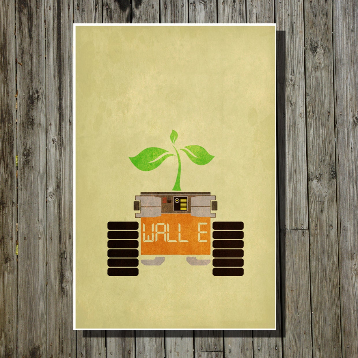 Wall-E movie poster Pixar print Disney minimalist movie art | Etsy