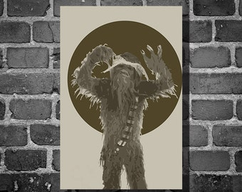 Star Wars Chewpac movie poster minimalist poster star wars art Chewbacca