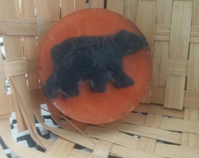 Black Bear Soap, Olive Oil Glycerin Soap, Customized colors and fragrance available