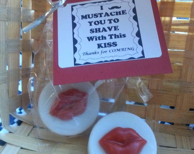 Kissing Lip Shaving Soap Favors, Mustache Shaving Soap Favors, Wedding Favors, Bridal Shower Favors, Birthday Favors, cmooreinspiration