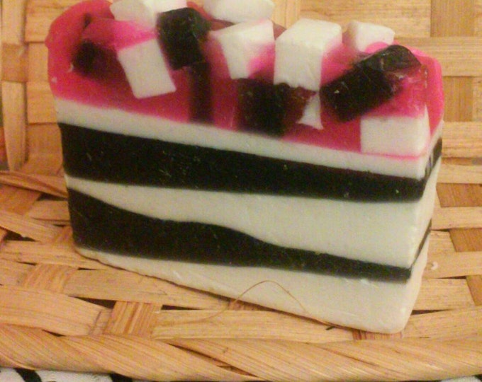 Pink Zebra, Handmade Soap, hypoallergenic soap, shea butter condition, antibacterial soap, zebra collection, gift soap