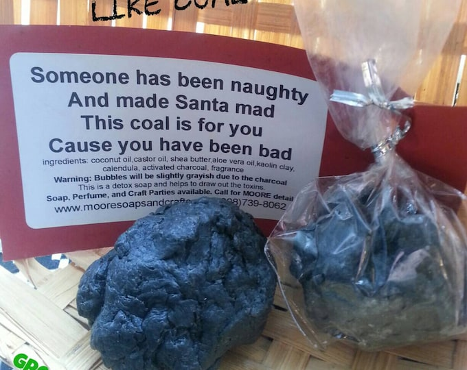 Coal Soap Favors, Christmas Party Soap Favors, Christmas Gift Favors, Cmooreinspiration