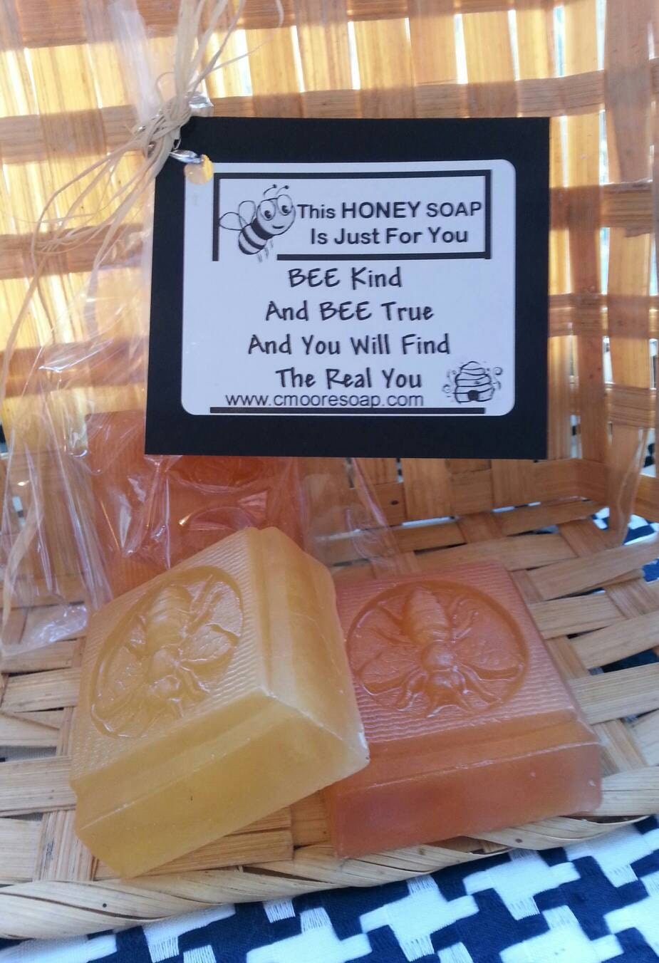 Honey Bee Soap Favors with customized quotes, packaging
