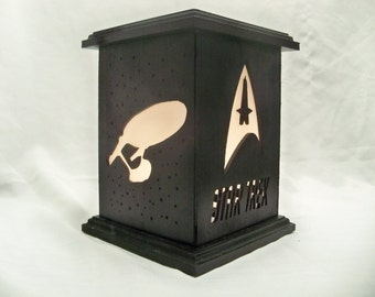 Star Trek wooden lantern