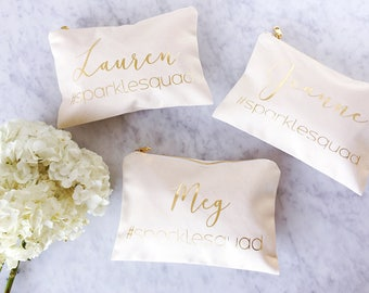 Personalized Bridesmaid Gift - Bridesmaid Gift - Bridesmaid Makeup Bag - Personalized Makeup Bag - Bridal Party - Bridesmaid Proposal