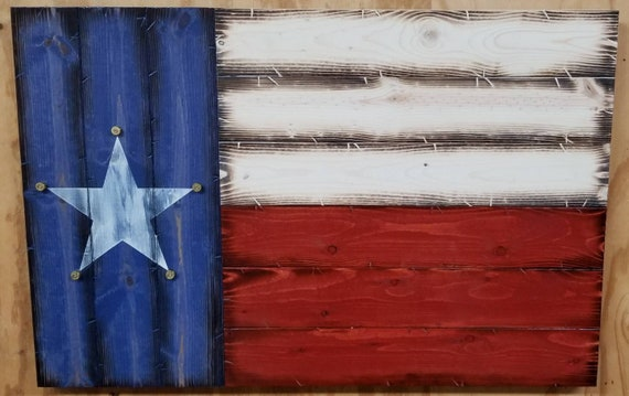 Wooden Rustic Style Texas Flag with Bullet Casings