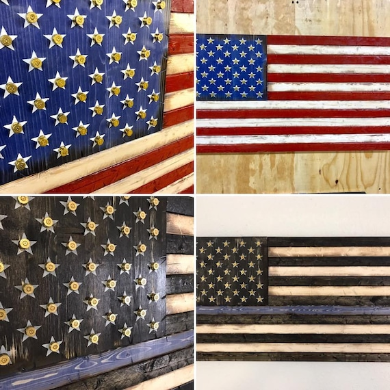 Bullet Casings With Stars Flag