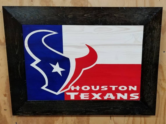 Wooden Rustic-Style Houston Texas Sign