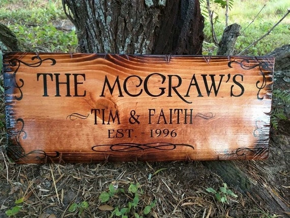 "Family name sign (8""x18"")"