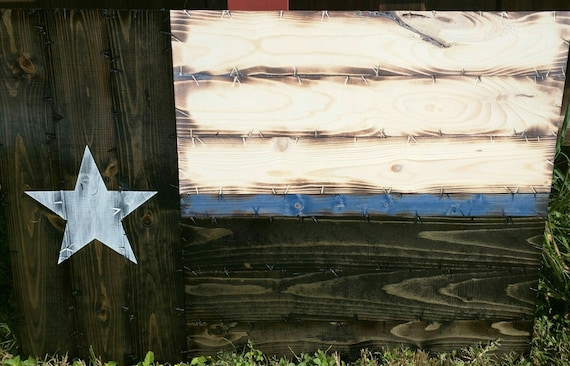 Medium Thin Blue/Red Line Texas Flag