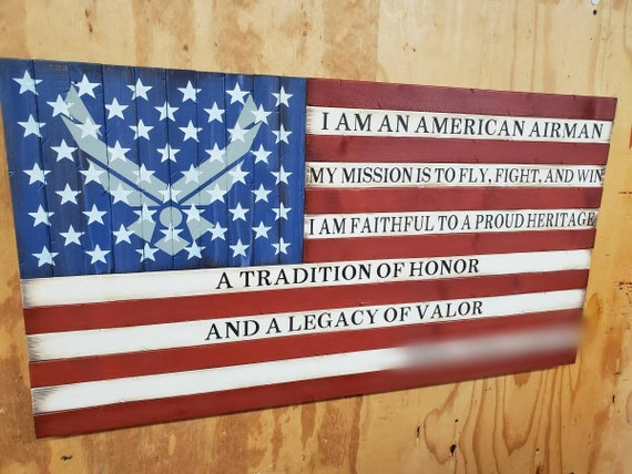 Airman's Creed American Flag