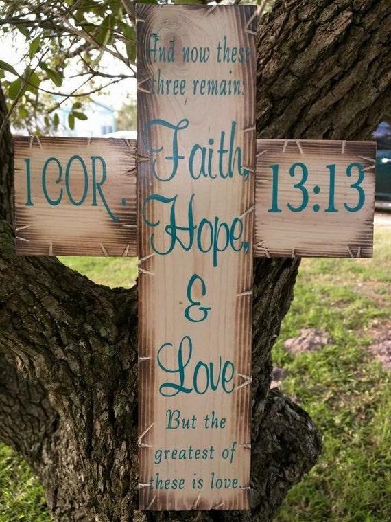 Faith Hope Love Cross (New)