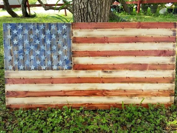Deluxe Rustic American Flag