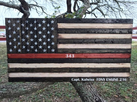 Thin Red Line American Flag | Firefighter Flag | Gift for Firefighter | Firefighter Retirement