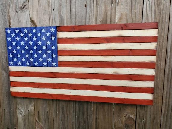 American Flag   Wooden Flag   USA Flag Decor   Rustic Decor   Pallet American Flag   Americana Style   Country Decor   Wall Hanging