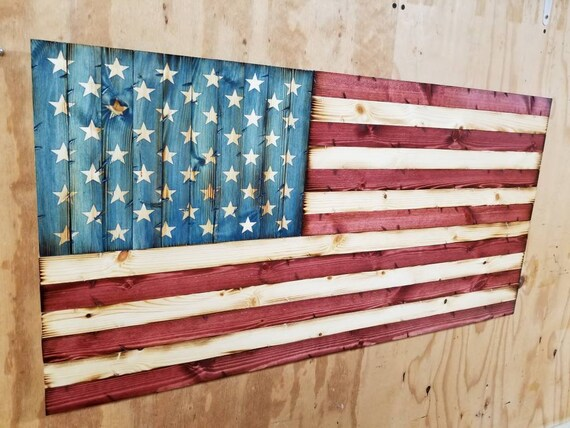 "Rustic Wooden ""Americana Style"" American Flag"