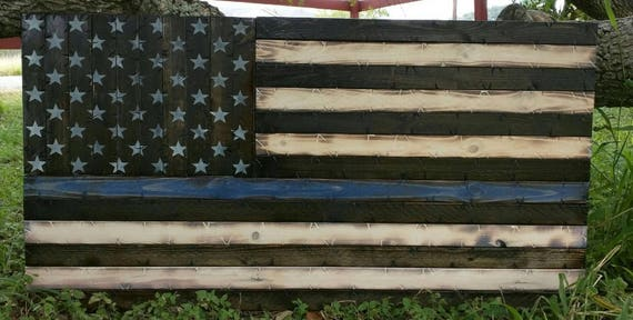 Thin **Any Color** Line Rustic American Flag