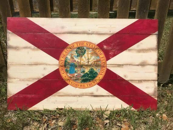 Rustic Florida Flag