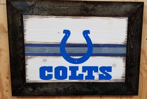 Wooden Rustic-Style Indianapolis Colts Sign