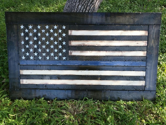 Framed Thin ANY COLOR Line American Flag