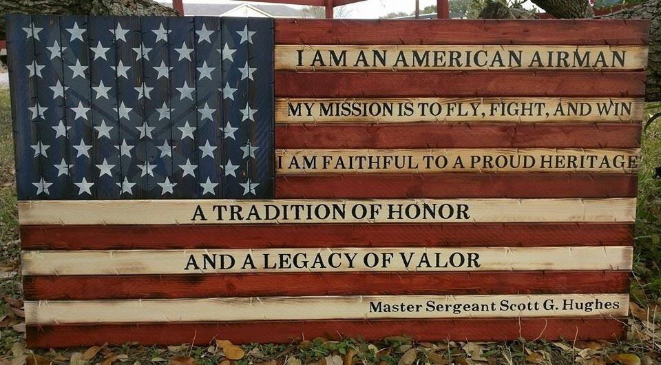 Airmans creed american flag altavistaventures Choice Image