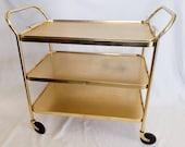 Kaymet Gold Bar Cart / Tea Cart / Drinks Trolley MCM