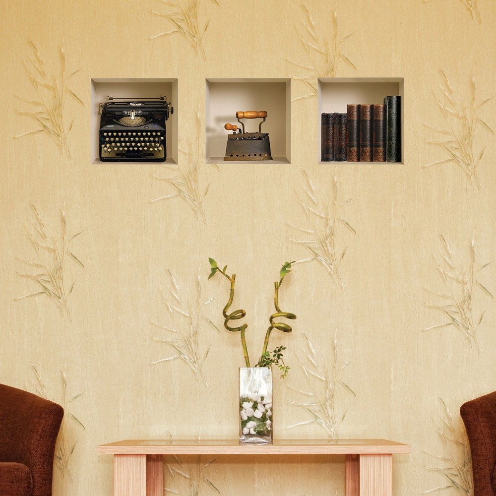 FREE SHIPPING Set 3 Antique Wall Stickers 3D Art magic NICHE   Etsy