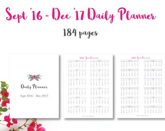 daily planner 2017 pdf everyday planner calendar 2017 etsy