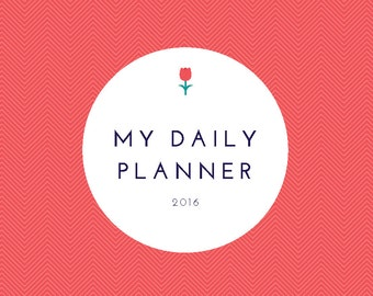 Personalized Daily Planner Cover Page, Personalized planner page cover page for everyday planner, blog planner, printable pdf planner page