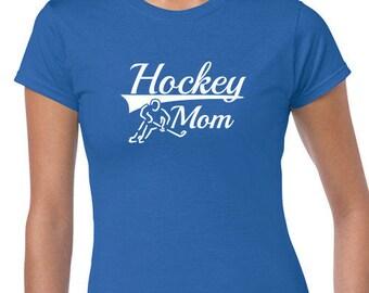 Hockey Mom T-Shirt, Sports T-Shirt, Christmas Xmas Womens Customized Wife Mom Nana Mother's Day Birthday Gift Ideas Under US 20 Red Green