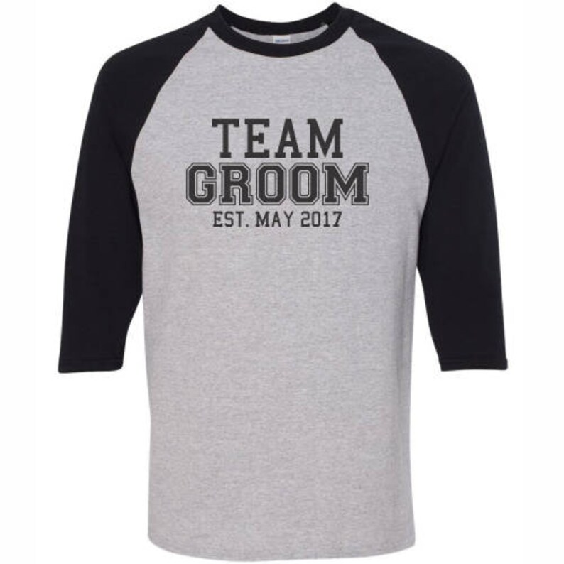 715396829e616 Athletic Style Team Groom Squad Baseball Shirts,CustomIzed Mens Best Man  Groomsman Father Of The Groom Bride Wedding Bachelor Party T-Shirts