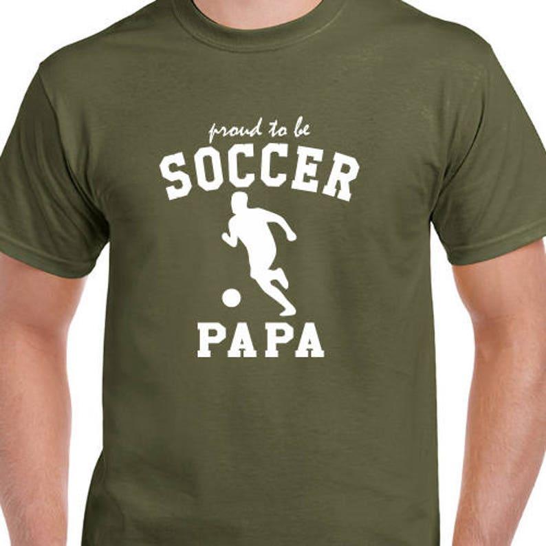 dd8cf20af Soccer Papa Dad Grandpa T-Shirts Sport Shirts Christmas Mens | Etsy
